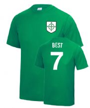 George Best Northern Ireland Football Fancy Dress Player T Shirt